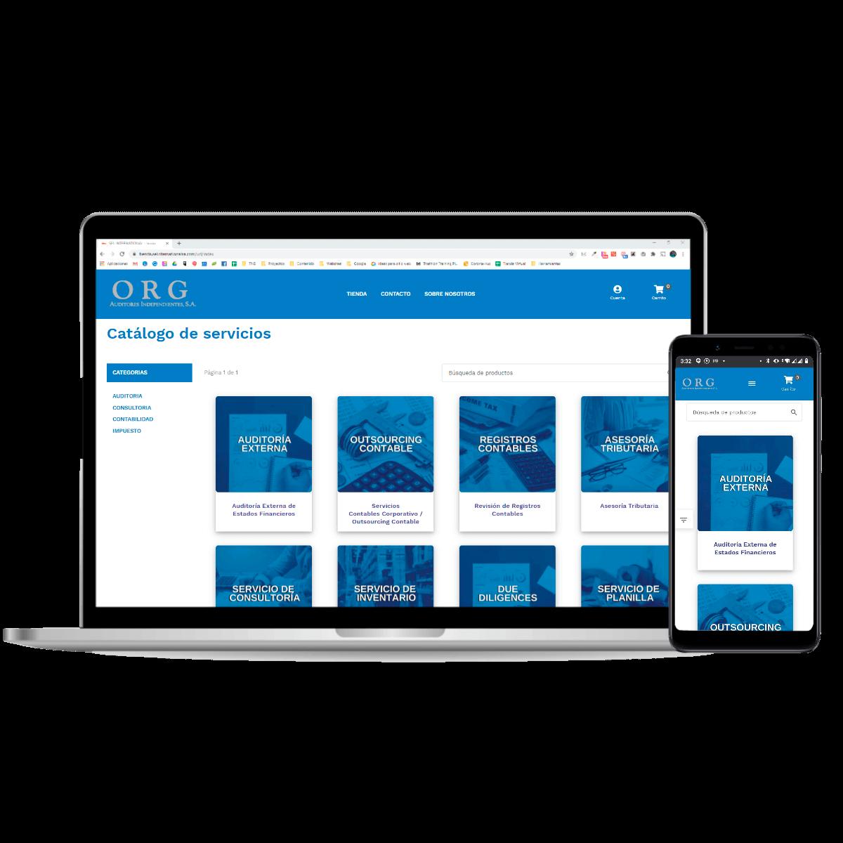 Tienda online Org Auditores